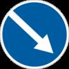 Об'їзд перешкоди з правого боку