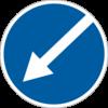 Об'їзд перешкоди з лівого боку