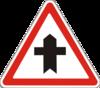 знак 1.22 Перехрещення з другорядною дорогою