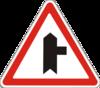знак 1.23.1 Прилягання другорядної дороги