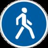 знак 4.13 Доріжка для пішоходів