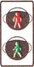 світлофор для регулювання руху пішоходів
